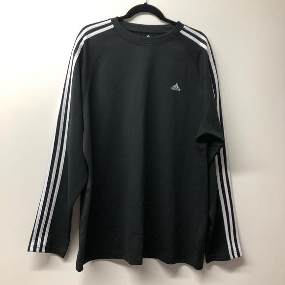 Adidas Shirts Original Black White Long Sleeve Top Xl Poshmark